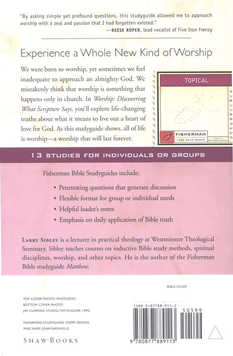 Worship: Discovering What Scripture Says, Fisherman Bible Study Guides
