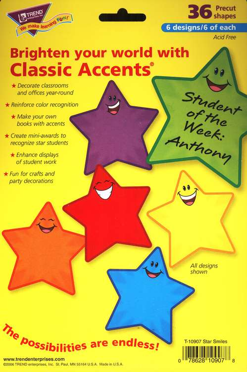 Star Smiles Variety Pack Classic Accents
