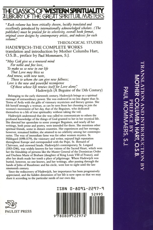 Hadewijch: The Complete Works (Classics of Western Spirituality)