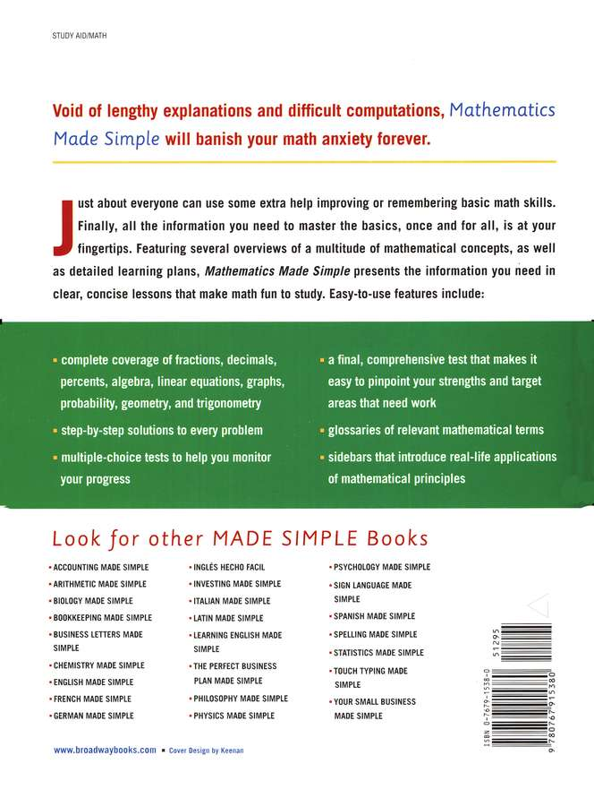 Mathematics Made Simple, Sixth Edition