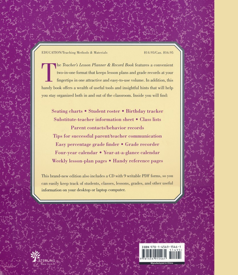 The Teacher's Lesson Planner and Record Book, Revised Edition with CD-ROM:  Stephanie Embrey: 9781454915461 - Christianbook.com
