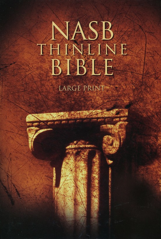 NAS Thinline Bible, Large Print, Hardcover