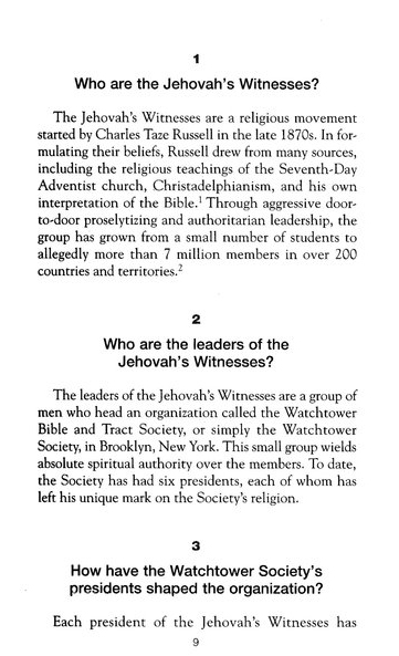 The Facts on Jehovah's Witnesses, Revised and Updated
