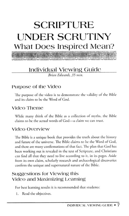 How Do We Know the Bible is True? Leader Guide &  Workbook