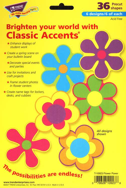 Flower Power V/Pack Classic Accents