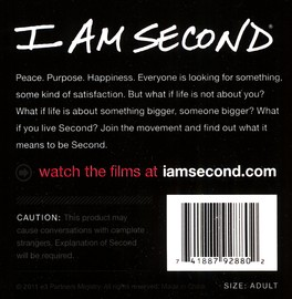 I Am Second--Rubber Wristband (Black)
