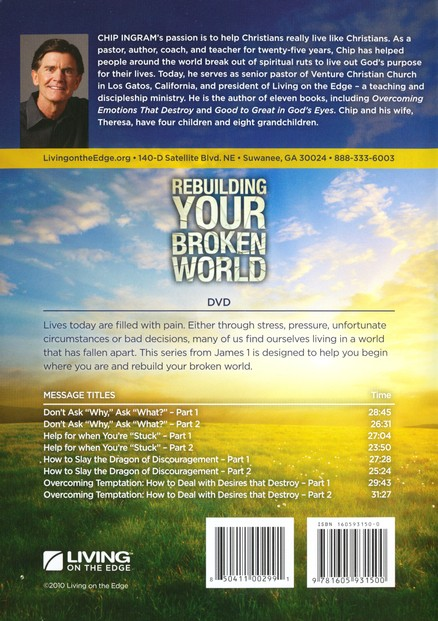 Rebuilding Your Broken World DVD Set Chip Ingram