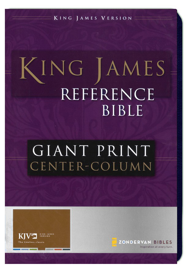 KJV Giant Print, Center-Column Reference, bonded navy,  Thumb-Indexed