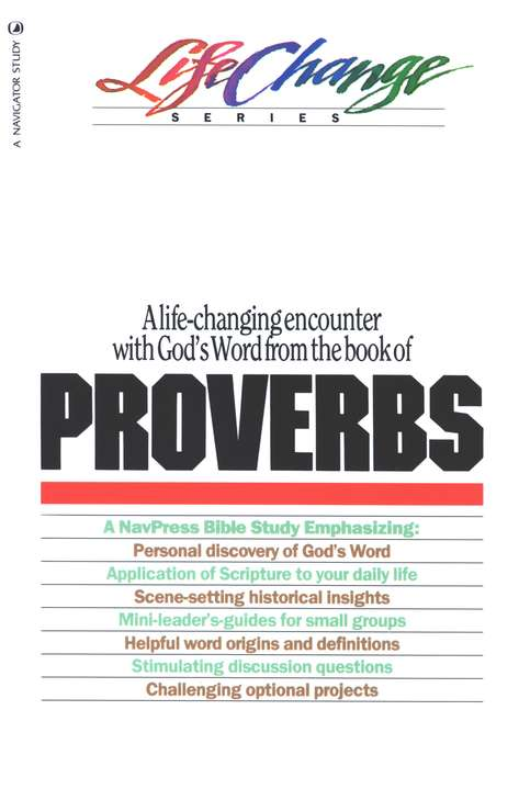Proverbs, LifeChange Bible Study