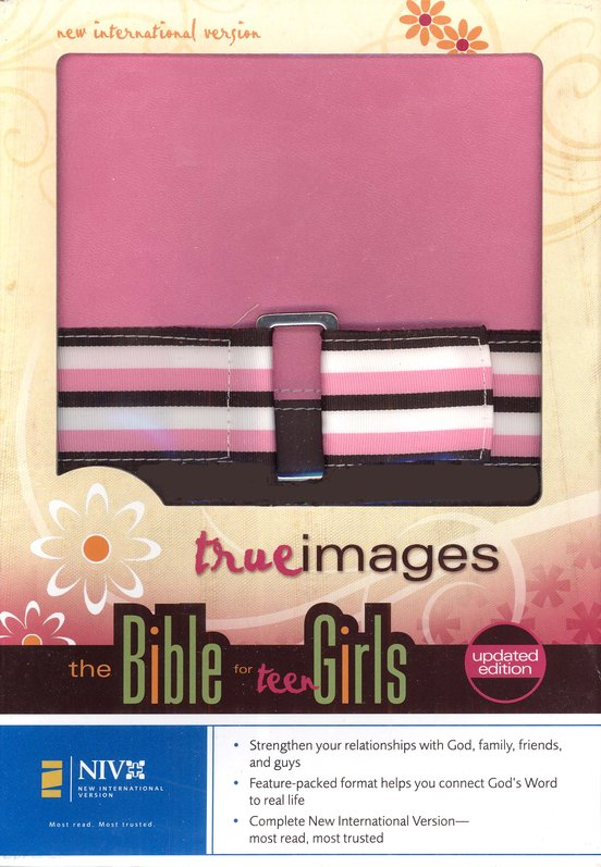 NIV True Images: The Bible for Teen Girls, updated edition, Duo Tone bubble gum/chocolate 1984