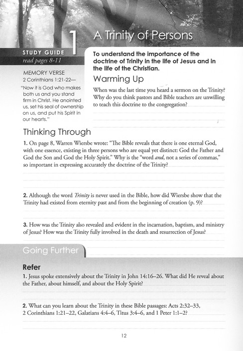 The Trinity: The Blessing of God's Grace, Love, and Fellowship, Study Guide