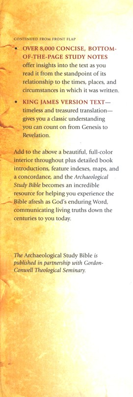 KJV Archaeological Study Bible: An Illustrated Walk Through Biblical History and Culture