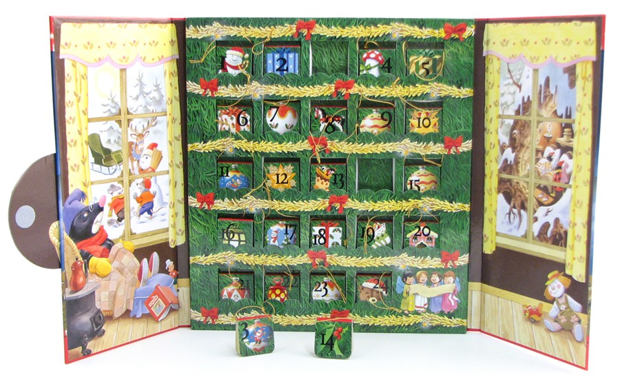 Advent Calendar: With 24 Minibooks You Can Use to Decorate Your Tree
