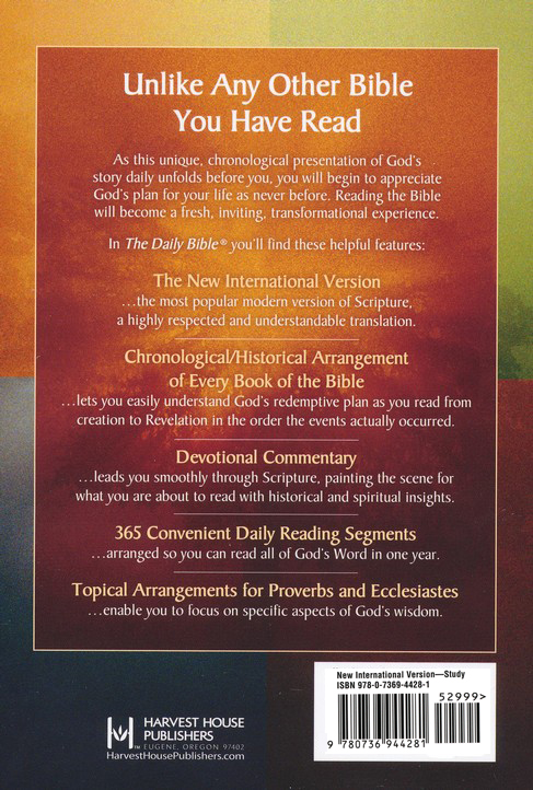 The NIV Daily Bible, Hardcover