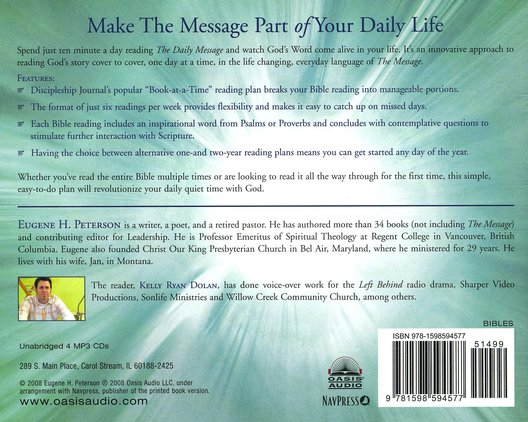 The Daily Message on MP3--4 CDs