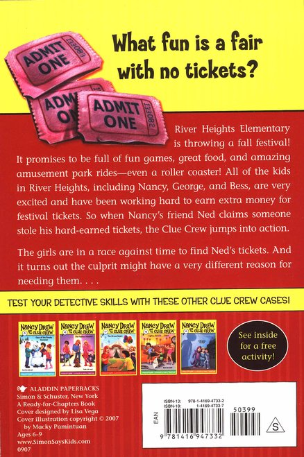 Nancy Drew and the Clue Crew: Ticket Trouble # 10