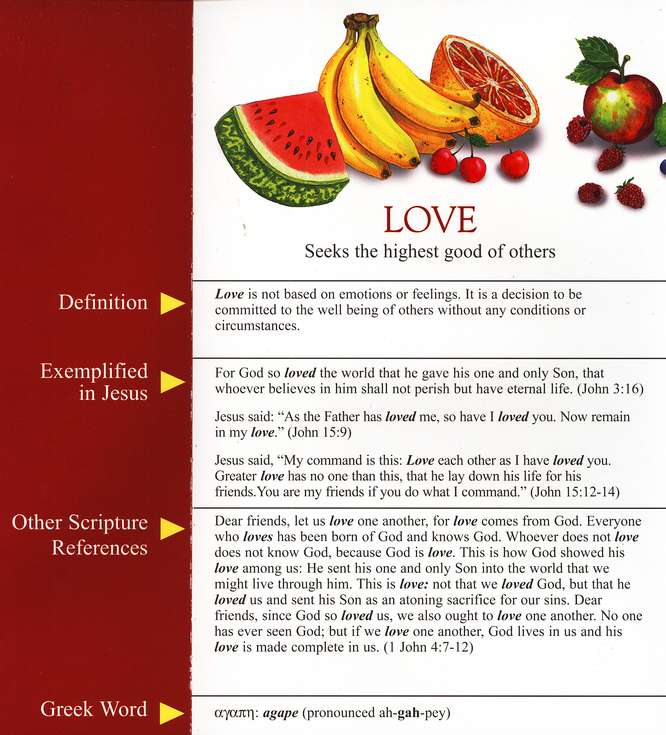 The Fruit of the Spirit Pamphlet