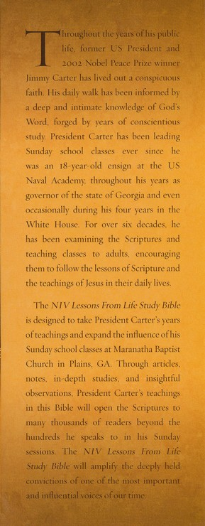 NIV Lessons from Life Bible: Personal Reflections with Jimmy Carter
