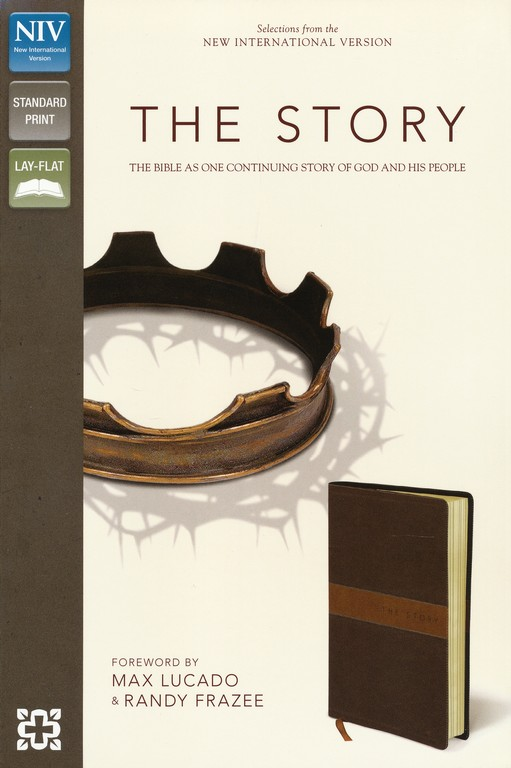 The Story, NIV: The Bible as One Continuous Story of God and His People, Italian Duo-Tone, Chocolate/Tan