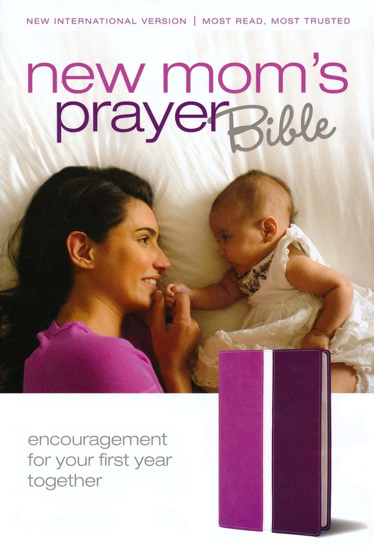 NIV New Mom's Prayer Bible: Encouragement for Your First Year Together, Italian Duo-Tone Dark Orchid/Plum 1984