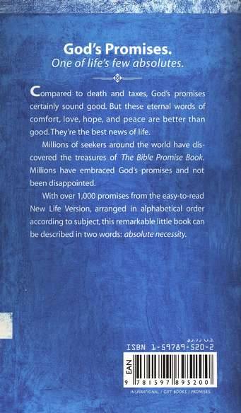 The NLV Bible Promise Book, softcover