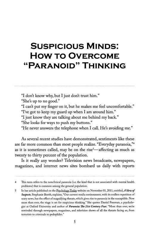 Suspicion: How to Overcome