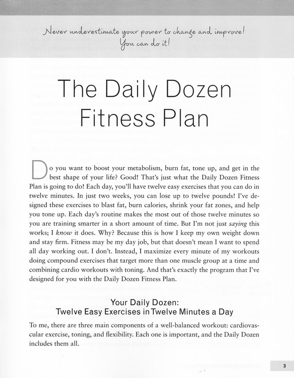 Denise's Daily Dozen: 12 Easy Exercises for Every Day of the Week-Lose a Dozen Pounds in a Month