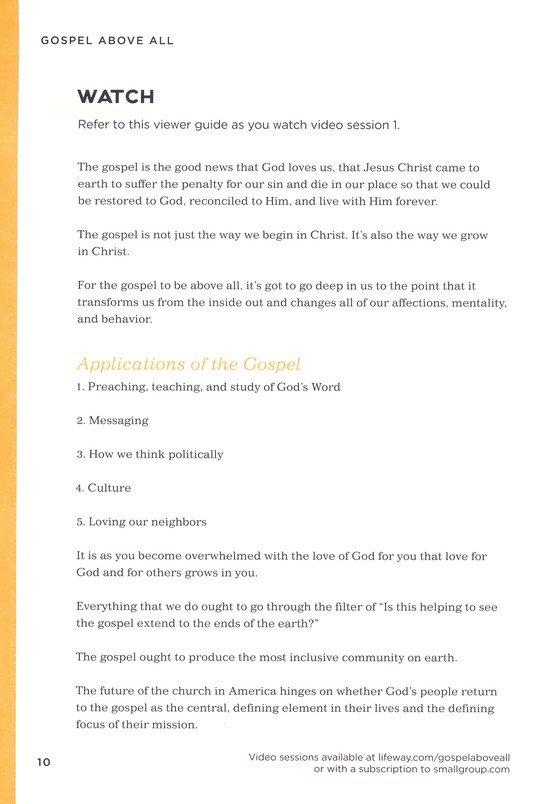 Gospel Above All, DVD Leader Kit