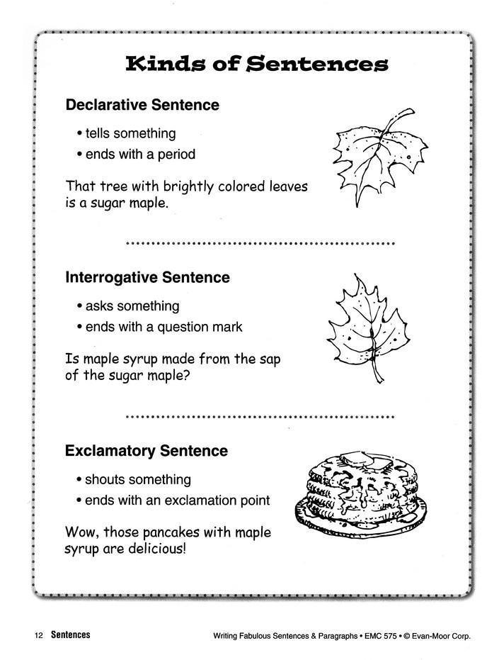 Writing Fabulous Sentences & Paragraphs - Grades 4-6