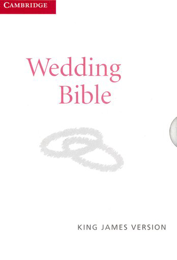 KJV Wedding Bible, French Morocco leather, white
