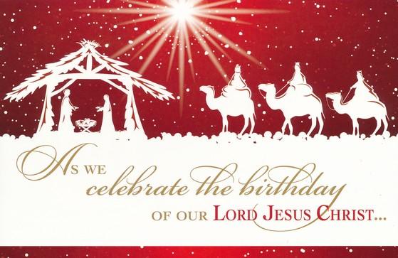 Celebrate the Birthday of Jesus Christ Box of 20 Christmas Cards