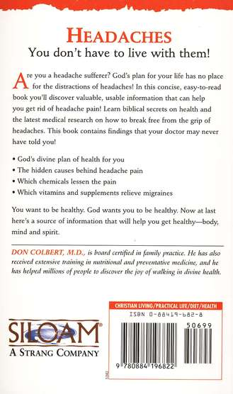 Headaches, The Bible Cure Series