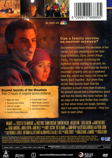 Secrets of the Mountain, DVD