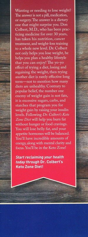 Dr Colbert S Keto Zone Diet Burn Fat Balance Appetite Hormones And Lose Weight Don Colbert M D 9781683970248 Christianbook Com