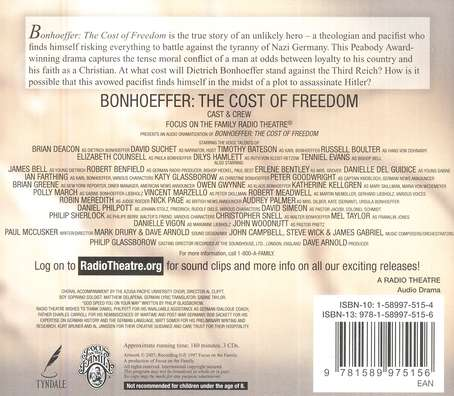 Radio Theatre: Bonhoeffer: The Cost of Freedom