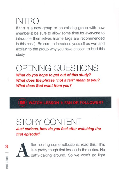 Not a Fan: Small-Group Study Kit DVD