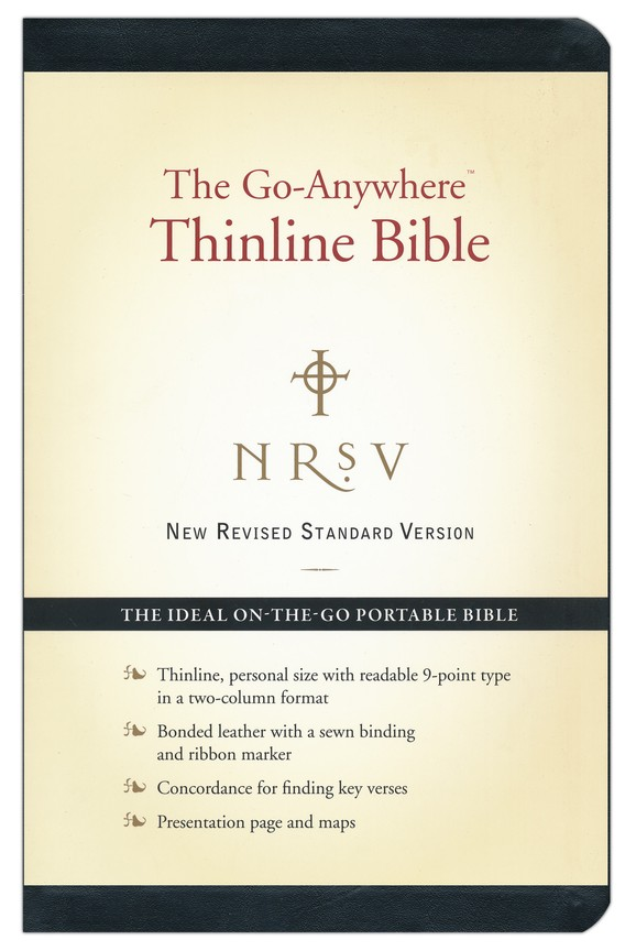 NRSV Go-Anywhere Personal Size Thinline Bible, Bonded Leather, Black