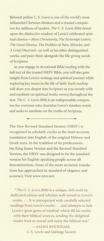 The C.S. Lewis Bible, NRSV