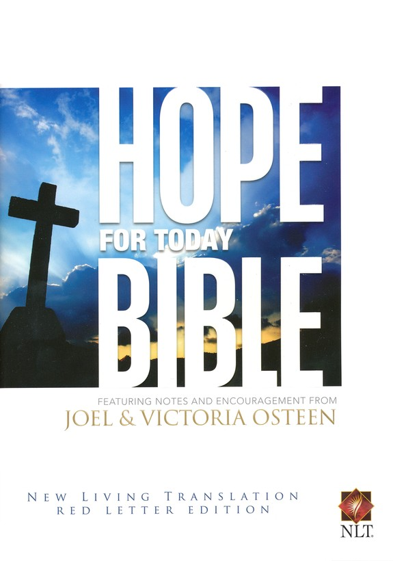 Hope For Today, New Living Translation, Hardcover,  Red Letter Edition, Ribbon Marker