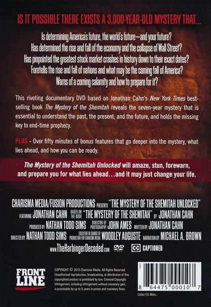 The mystery of the shemitah unlocked dvd jonathan cahn the mystery of the shemitah unlocked dvd jonathan cahn 9781629986180 christianbook malvernweather Choice Image