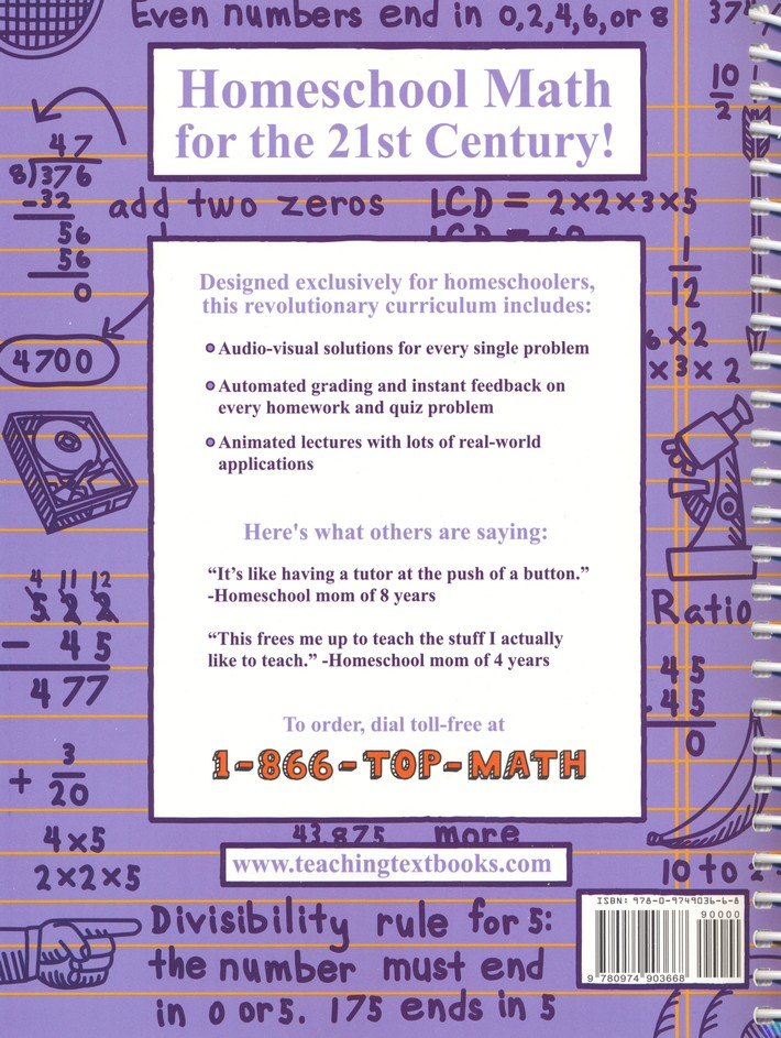 Teaching Textbooks Math 7 Complete Kit