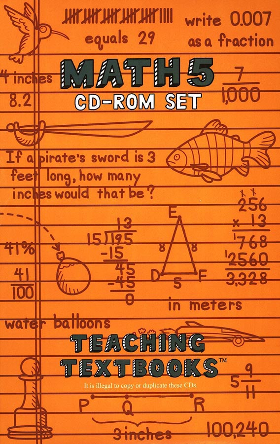 Teaching Textbooks Math 5 CD-Rom Set