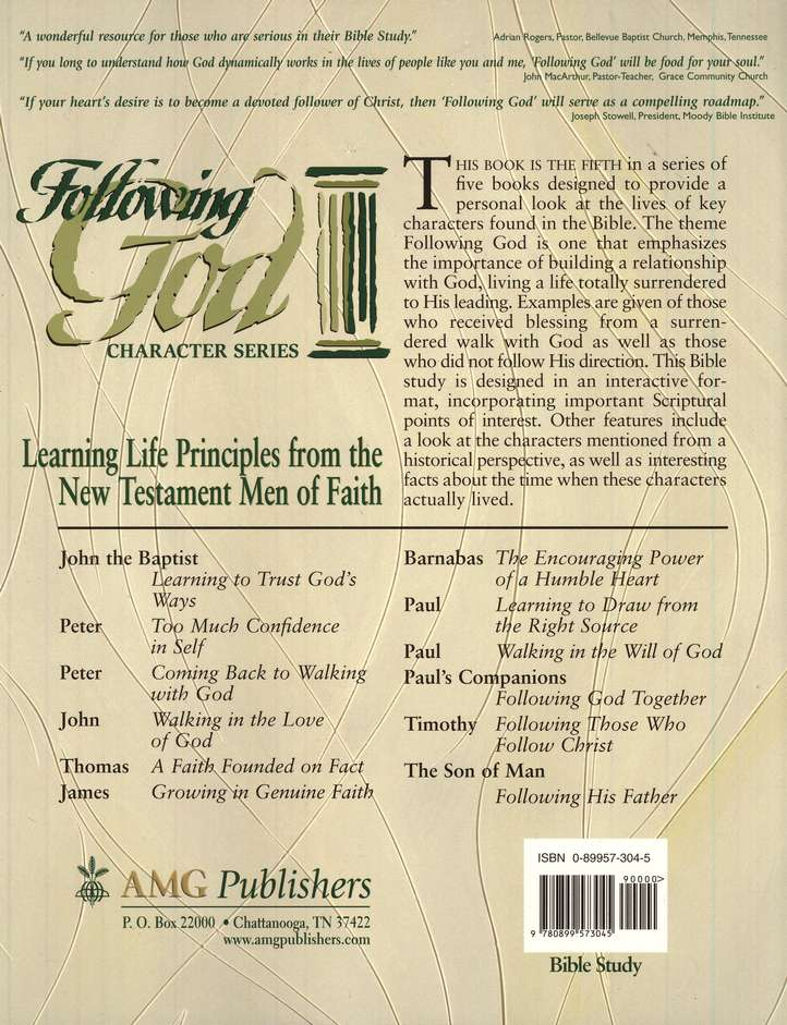 Following God Series: Life Principles from the New Testament  Men of Faith