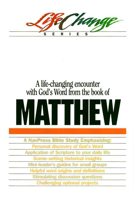 Matthew, LifeChange Bible Study