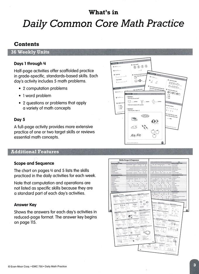 Daily Math Practice: Grade 1 Teacher's Edition