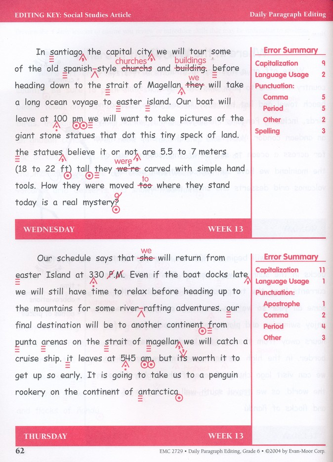 Daily Paragraph Editing Grade 6 9781557999603 Christianbook