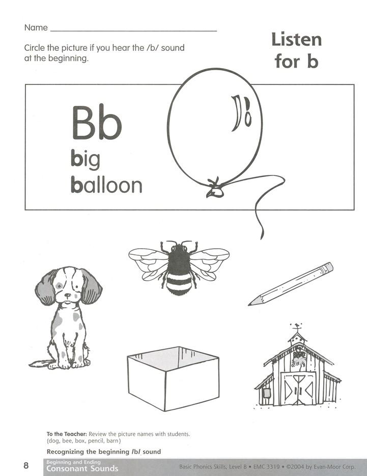 Basic Phonics Skills, Level B