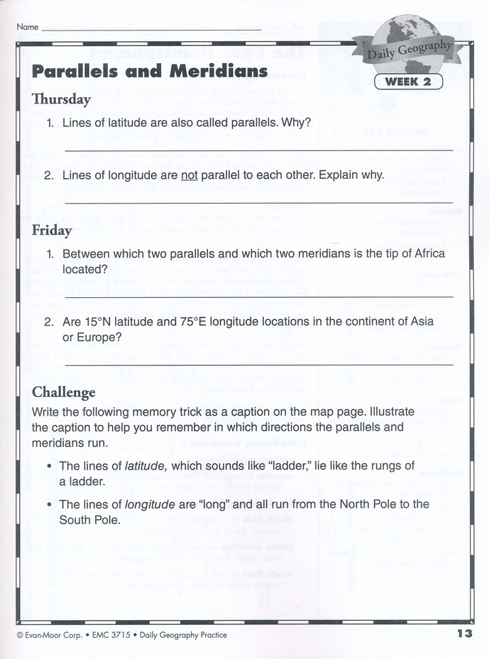 Daily Geography Practice, Grade 6