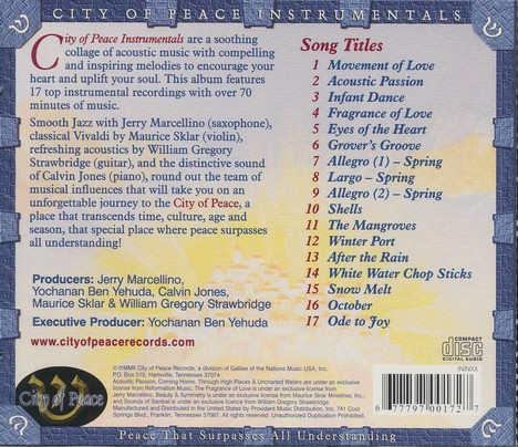 City Of Peace Instrumentals, Compact Disc [CD]
