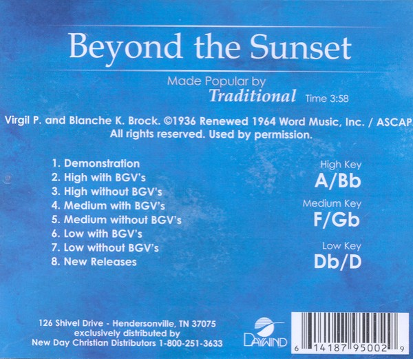 Beyond the Sunset, Acc CD